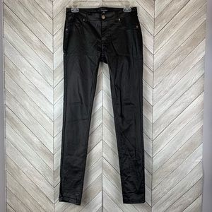 Shinestar faux leather pants. Medium